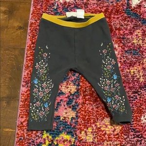 Zara baby girl floral leggings 6-9 3-6mo